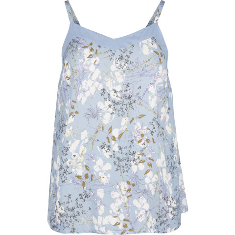 Lys blå top fra zizzi med blomstermotiv