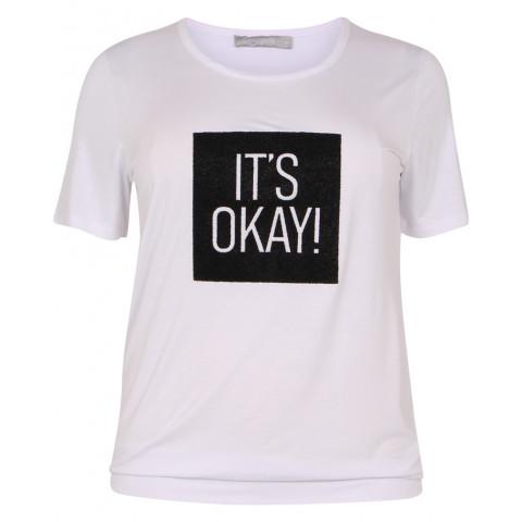 MARIT T-shirt Hvid front